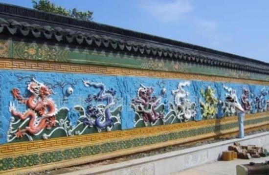 世界最大的琉璃九龙壁