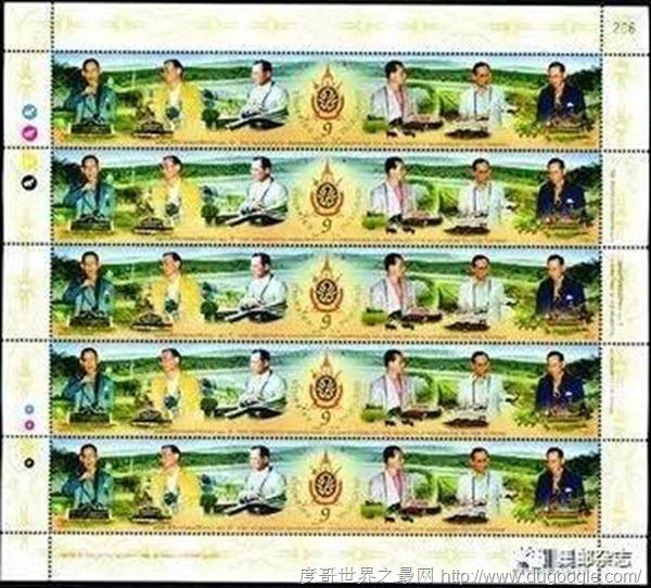 世界最长邮票 泰国邮政总局发行170mm长邮票