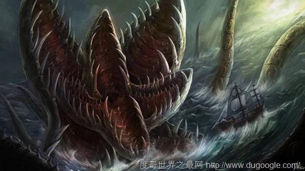 北欧神话中的巨大的海怪:北海巨妖