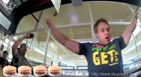 恶汉挑战吃汉堡世界纪录