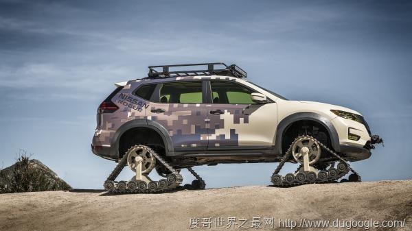 NISSAN这辆 Nissan Rogue SUV 改成公路野兽