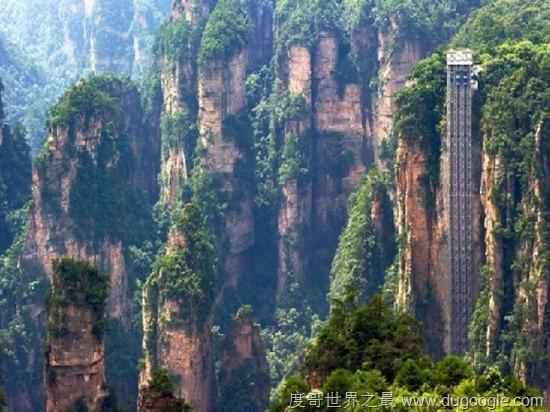 【百龙天梯】世界上最高户外电梯 高335米