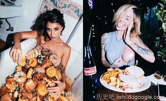 豪乳摄影师专拍美女 食物遮胸挑逗程度破表